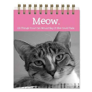 meow cat sayings easel book for cat lovers
