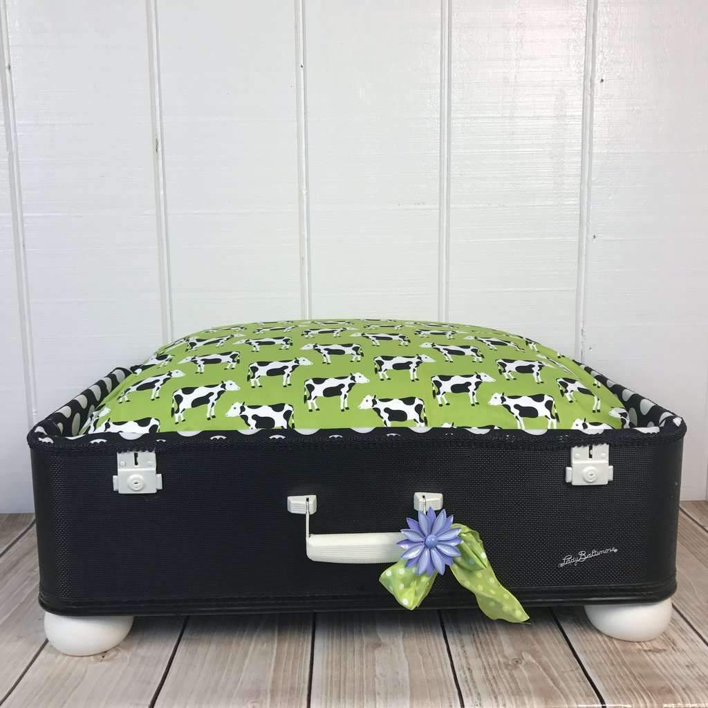 Moooooo Pet Suitcase Bed