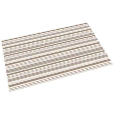 perfect litter mat in neutral stripes