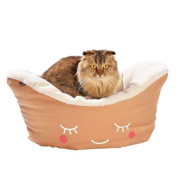 Nest Moon Cat Bed In Beige