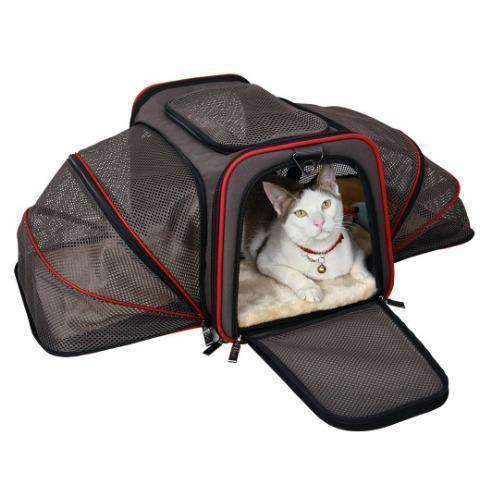 Petsfit Airline Approved Expandable Carrier For Cats, Soft Sided With Two Extensions