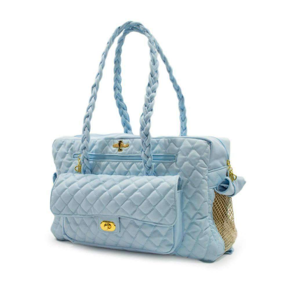 porsha cat carrier in baby blue