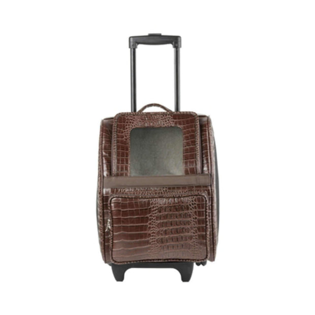 Rio Classic Bag On Wheels In Brown Croc Faux Leather