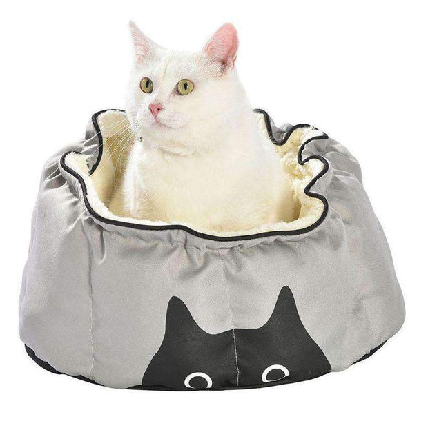 Ruche Cat Bed In Grey