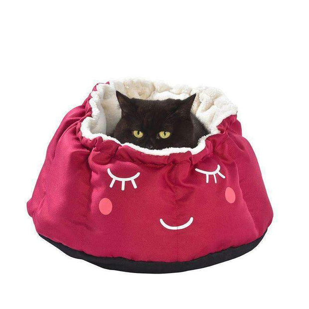 Ruche Moon Cat Bed In Raspberry