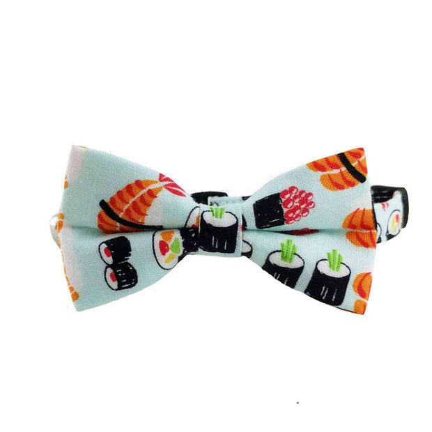 sushi bow tie collar for cats