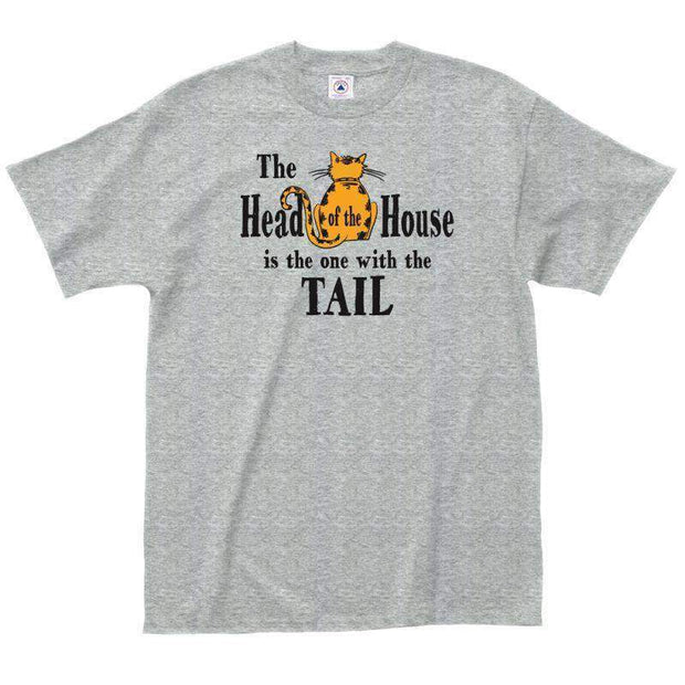 The Head of the house is the one with the tail t-shirt