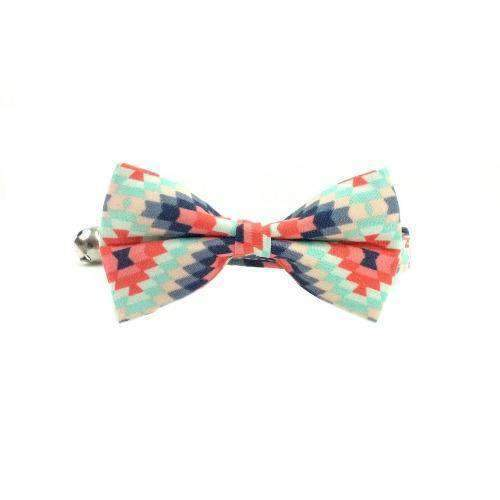 tribal kitty bow tie cat collar