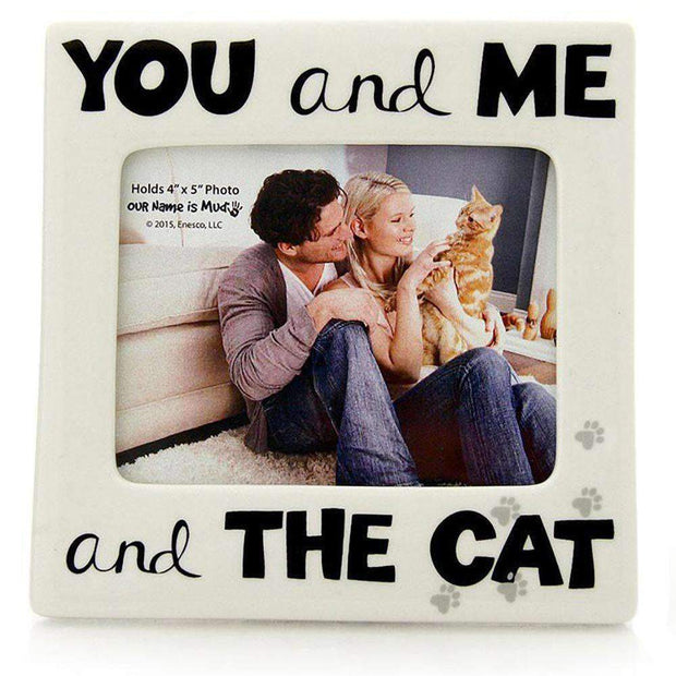 You Me And Cat Photo Frame