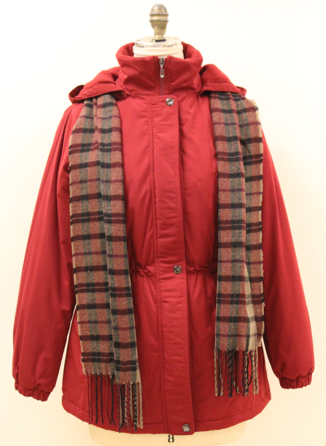 Polyester Silk Look Poly-Filled Anorak