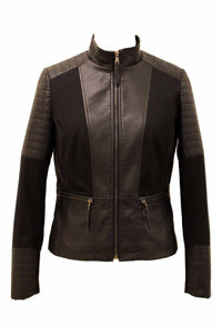 Women's Plus Multi-Media Moto Jacket