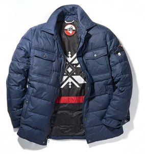 Men's Quilted Down Shirt Jacket