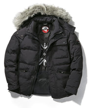 Men's Quilted Down Hooded Jacket