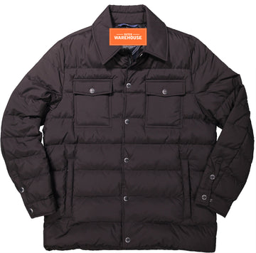Down Quilted Utility CPO Shirt Jacket
