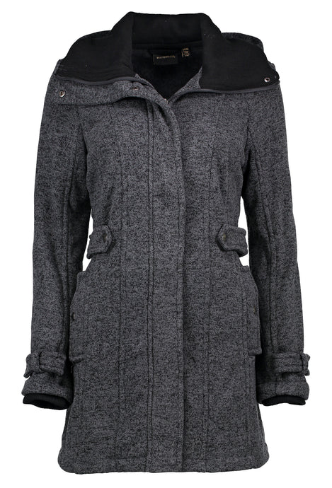 Ladies Fleece Sweater Jacket With Collar Side Tab