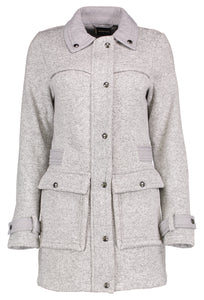 Ladies Fleece Sweater Coat Wth Snap Front