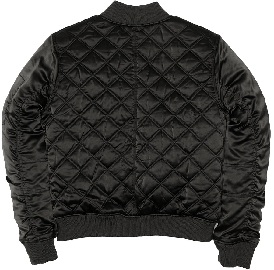 Women's Satin Quilted Bomber