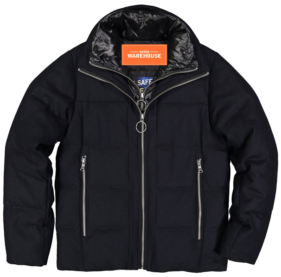 Men's Down Filled Wool Puffer Jacket