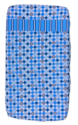 100% Cotton - Cot Sheets Blue