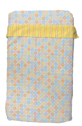 100% Cotton - Compact Cot / Travel Cot Sheets Yellow