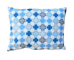 100% Cotton Pillow Blue
