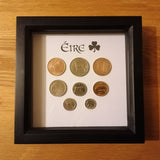 Eire / Irish / Republic of Ireland Pre-Decimal set of Coins Mounted
