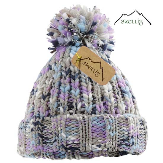 Skellig Bobble Pom Pom Warm Beanie Hat Cold Winter Weather Lavender