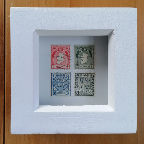 O'Connors Republic of Ireland / Eire / Irish First Edition Stamps Box Framed Set