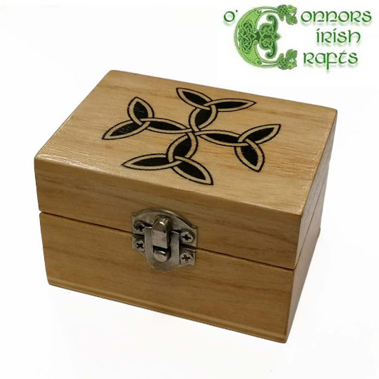 O'Connors Irish Celtic Knot design Jewellery / Trinket wooden box small