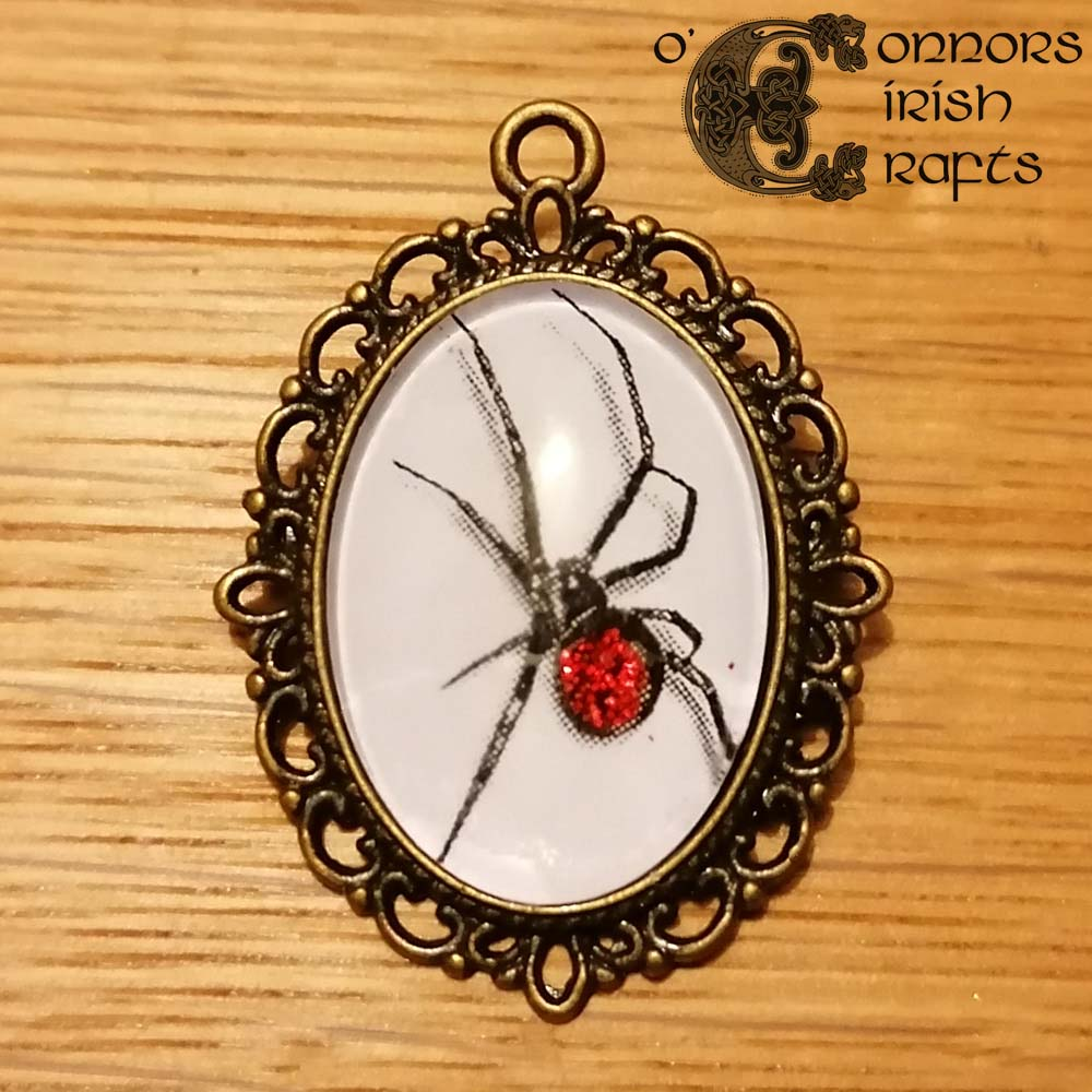 O'Connors Gothic Witch Witchcraft Wicken Spider Pendant Red Body