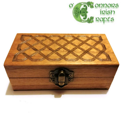 O'Connors Irish Celtic Knot Wooden Trinket / Jewellery Box