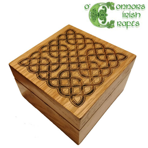 O'Connors Irish Celtic Knot Wooden Trinket Jewellery Box