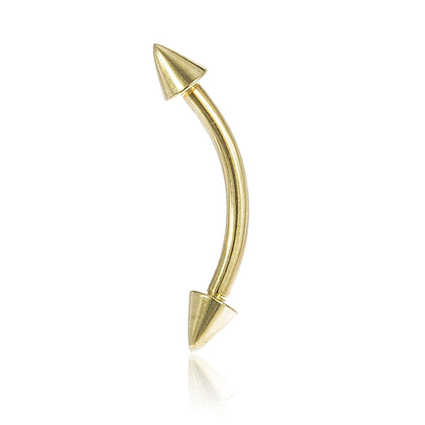 Curved Spiked Barbell Eyebrow Ring