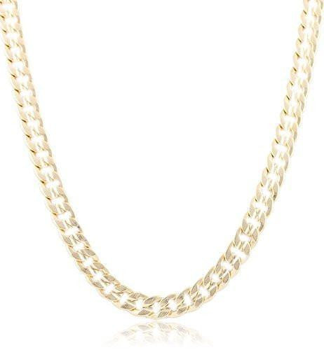 6 Pieces of 10mm Frosted Cuban Chain (24 Inches)