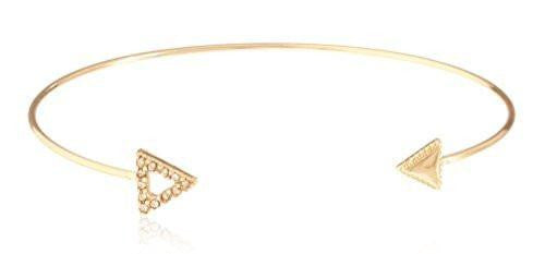 6 Pieces of Fancy Arrow Delicate Cuff Bangle with Stones (Silvertone)
