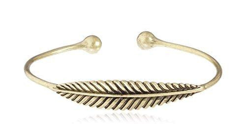 6 Pieces of Leaf Style Cuff Bangle (Silvertone)