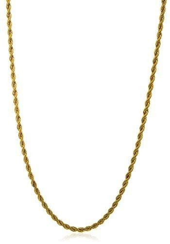 6 Pieces of Stainless Steel 5mm Rope Chain (24 inch Goldtone)