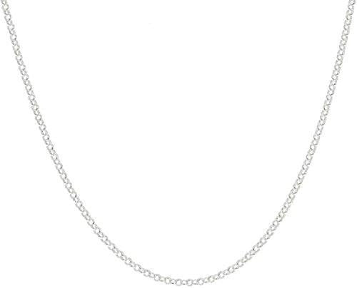 "6 Pieces of 925 Sterling Silver 3.2mm Belcher Bead Rolo Chain - 18"" 20"" 24"" Available (20)"