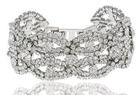 6 Pieces of Silvertone 7 Inch Frosted Bridal Bracelet