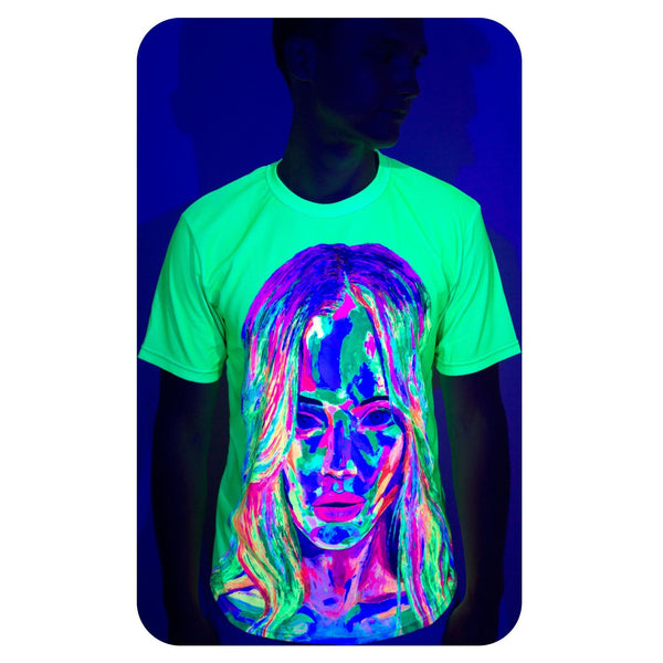 Acid Rave Shirt Men Glow in Ultraviolet Fluorescent Obramovich ts11