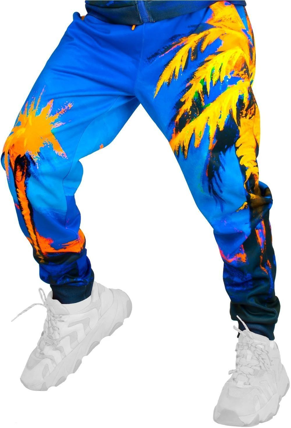 Blacklight Sweatpants Designed Blacklight Glow Hawaii Palms pm1