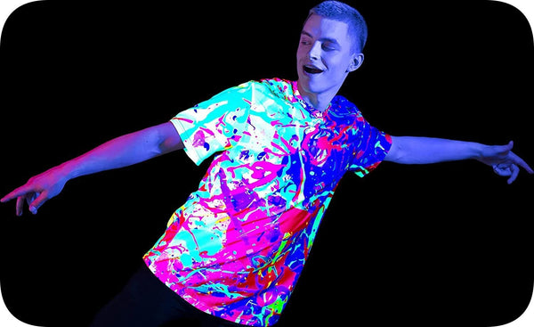 Neon Element T Shirt Mens Glow in UV Fluorescent Your Rainbow ts34