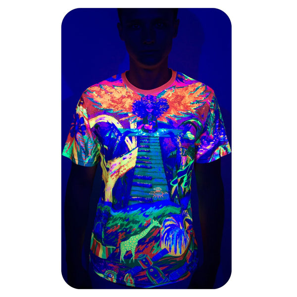T-Shirts With Print for Men Glow in UV Fluorescent Ulia And Team ts6