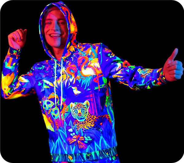 UV Sweat Shirt For Man Women Fluorescent Lion Jungle bhm13