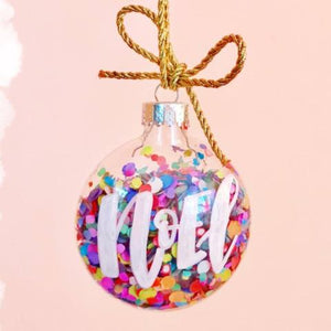 Hand Lettered Confetti Ornaments Workshop - Columbus - December 9