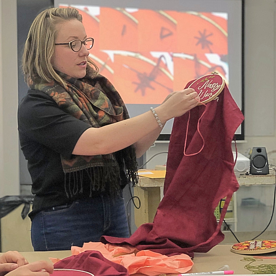 Introduction to Embroidery with Lauren Tyger - Columbus, Ohio - August 1