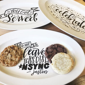 Sweets & Scripts - A Hand Lettered Platter Workshop & Fundraiser for Adoption Network Cleveland - May 6 - Cleveland