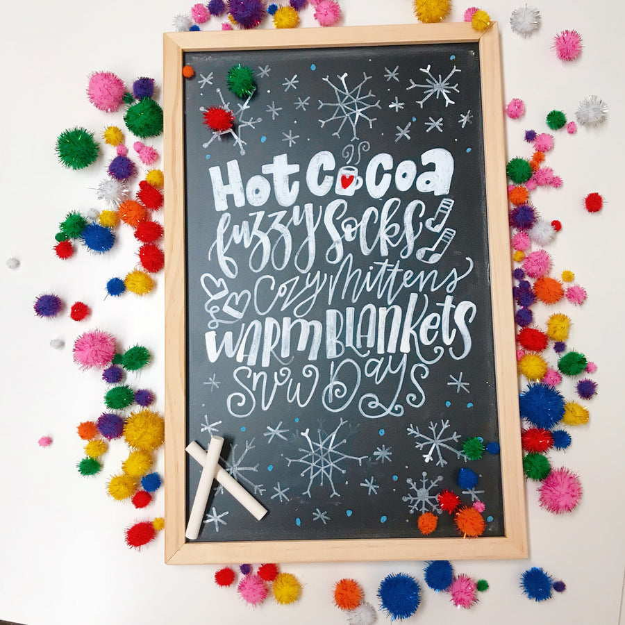Hand Lettered Chalkboards - Holiday Edition - Quad Cities - November 19