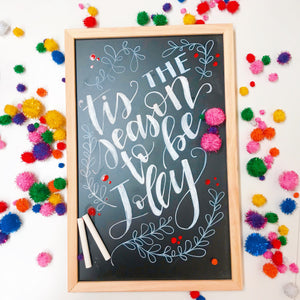 Hand Lettered Chalkboards - Holiday Edition - Columbus, Ohio - November 28