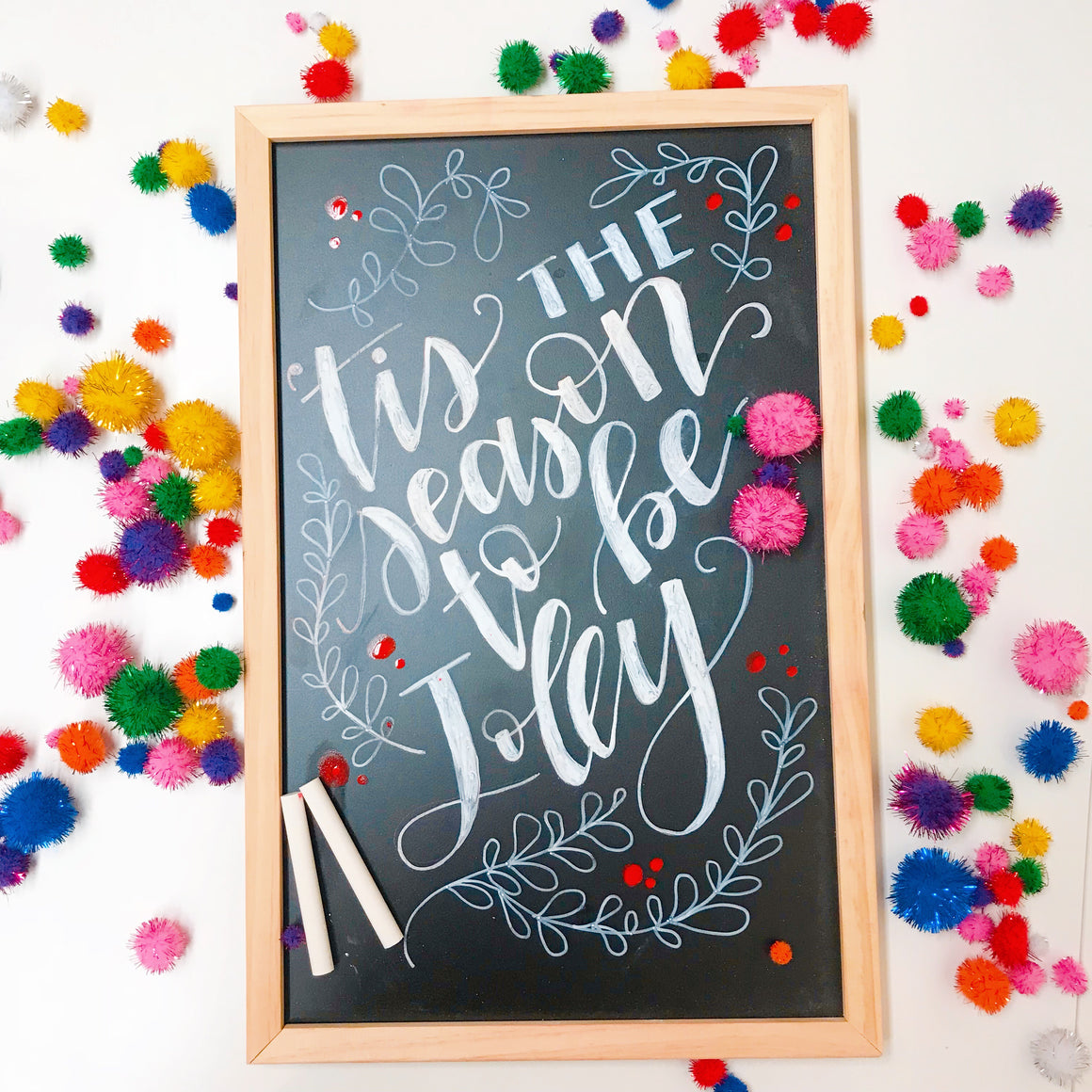 Hand Lettered Chalkboards - Holiday Edition - Columbus, Ohio - December 4